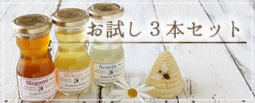 蜂蜜お試し3本セット